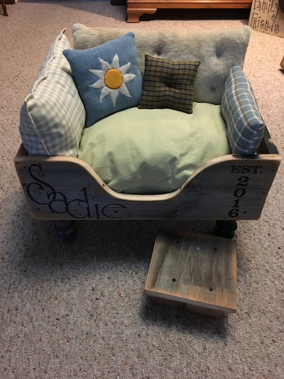 Custom Personalized Rustic Dog Bed