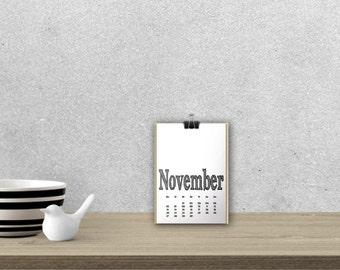 Desk Calendar 'ARCHISTICO', black // A5