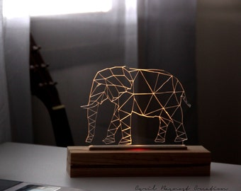 Pilot elephant led plexiglas
