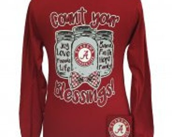 Girlie Girl Blessings Alabama Roll Tide shirt NEW