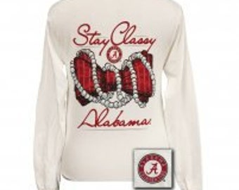 Stay Classy University of Alabama long sleeve tee NEW