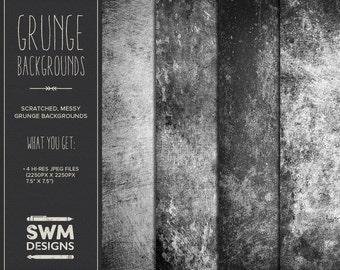 Grunge Backgrounds - Instant Download