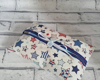 Baby wet wipe pouch / cover. Baby boy, toddler. Stylish cover