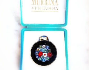 Vintage Murano Millefiori Pendant Made in Italy Handmade Glass Jewelry