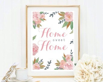 A4 Home Sweet Home Vintage Floral print
