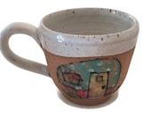 Pottery Mug Hand Painted Mug Coffee Mug Ceramic Mug Handmade Mug Stoneware Mug Coffee Cup Tea Cup Camper Mug Retro Camper Camping Coffee