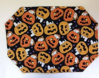 Snoopy Halloween Reversible Placemats /Set of 4