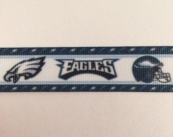 Philadelphia Eagles 1 Inch / 7/8 Inch Grosgrain Ribbon