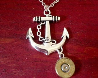 Anchor Necklace With Bullet