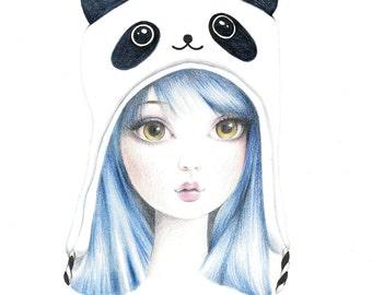 Panda Girl - Signed 8x10 Art Print