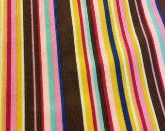 Corduroy print in stripe