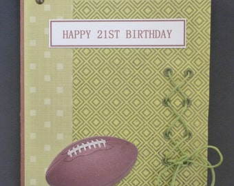 American Football 21st Birthday Card 1505