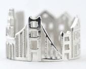 San Francisco Skyline Statement Ring Size 5-13