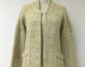 1970's Marbled Cream Mohair Cardigan