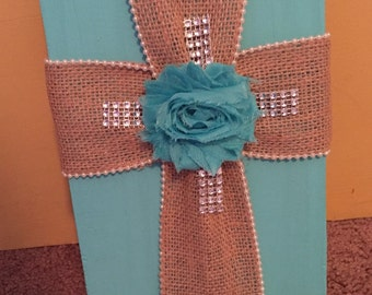 Handcrafted fabric crosses...