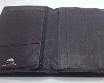 Vintage Buxton Brown Men's Wallet Travel Suit Pocket Credit Card Business Cards Document Holder Bifold