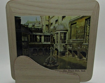Vintage Pimpernel Large Coasters Coaster With Caddy Carrier Holder The Abbey Great Roman  Bath Pulteney Bridge Royal Crescent Gardens Set