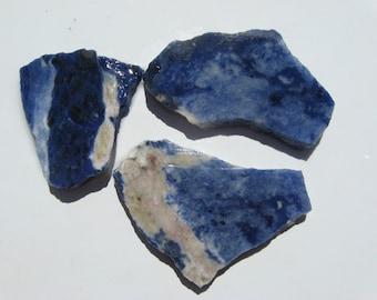 Assortment Sodalite slabs, Gemmy slab of Royal Blue Sodalite, Sodalite Rough slab, Focal stone slab, wire wrap rough slab