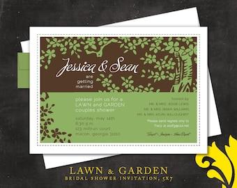 LAWN & GARDEN . bridal shower invitation