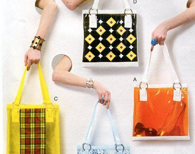 Free US Ship Vogue 8917 Accessories Handbag Purste Tote Bag Uncut 2013 Old Store Stock Out of Print Sewing Pattern ff