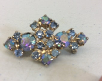Multi Color Crystal Brooch
