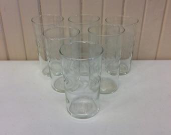 Etched juice glasses