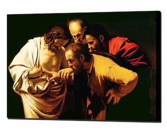 Caravaggio St Thomas Canvas Wall Art Print Picture Framed Ready Hang Decor