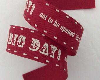 Birthday Big Day Red Ribbon