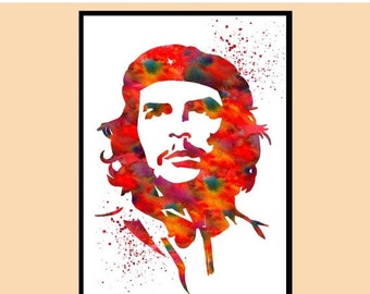 ON SALE 50% OFF Che Guevara , art print, poster,Gift, Home Decor,Heroic Guerrilla Fighter,Guerrilla Fighter, revolution,instant download