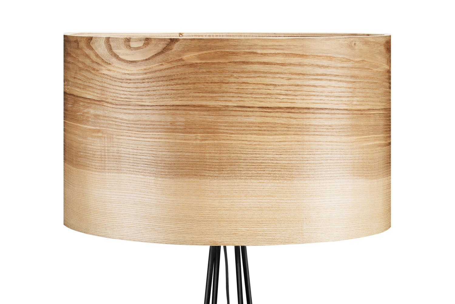 floor lamp with veneer lamp shade unique lamp natural wood. Black Bedroom Furniture Sets. Home Design Ideas