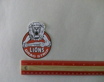 Lions drag strip vintage  style racing decal sticker