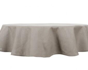 Linen Oval Tablecloth, Grey Linen Table Top, Linen Table Cover, Christmas  Tablecloth
