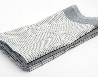 3 Linen Tea Towels, Grey Linen Kitchen Towels, Eco Kitchen Towels, Linen Gift