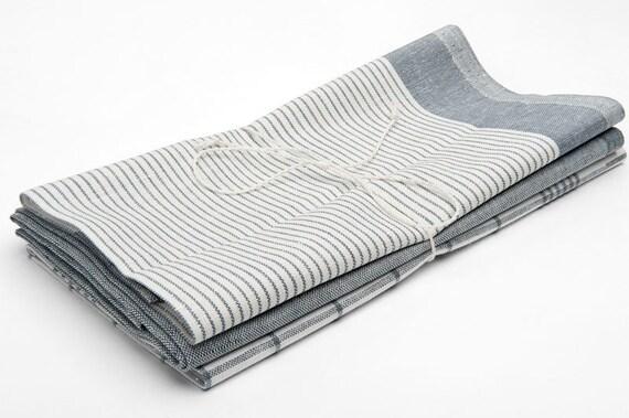 3 linen tea towels grey linen kitchen towels eco kitchen. Black Bedroom Furniture Sets. Home Design Ideas