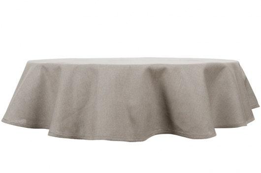 Nappe ovale en lin dessus de table lin gris housse de table - Nappe de table ovale ...