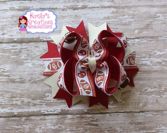 Sooner Hair Bows,OU Hair Bows,Oklahoma University Hair Bows, University Of Oklahoma Hair Bows,Boomer Sooner Hair Bows.
