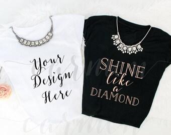 T-Shirts Mockup, T-Shirts Styled Stock Photography, Flat Lay Photography, Flat Laid Mockup, Font Designers, Apparel Shops