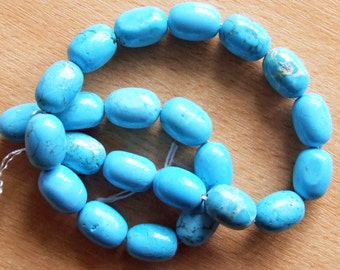 Turquoise Howlite Nugget Beads