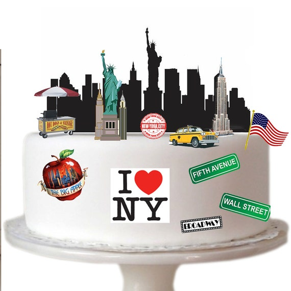 wedding cake toppers in new york stand up new york city made from fully edible premium 26513
