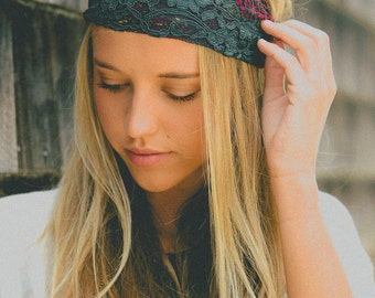 Dual Tone Wide Lace Headband