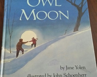 80s Vintage Children's Book / Owl Moon / Kids Book / Owls / Barn Owl / Snow / Owl Book / Snowstorm / Snowy / Classic /Rare/Christmas in July