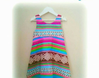 Blue Teepee Girl Dress