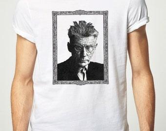 Samuel Beckett T-shirt - Waiting for Godot Ireland Irish Writer Author Fashion Style Books Literature Retro Vintage Clothing Apparel