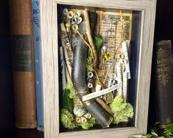Ancient Proverb Shadowbox, Nature Shadowbox Art