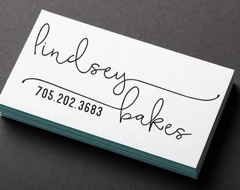 Business Stamp, Self-Inking or Handle Mounted Rubber Stamp, Business card stamp, Personalized stamp, Name stamp