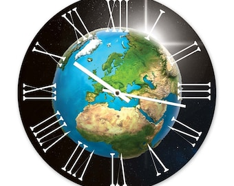 The Planet Earth - Designer World Wall Clock