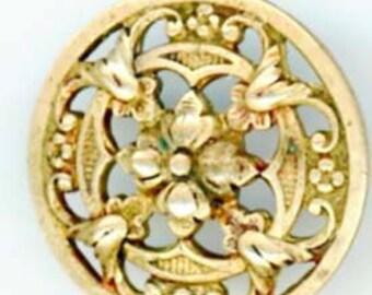 Antique Button: One Piece Floral