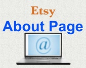 About Page Text for Etsy Shop, Etsy About Page, Etsy Shop About Page Text, Etsy Seller Profile Page Text