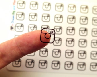 Instagram Icon Clear Planner Stickers! DBP183