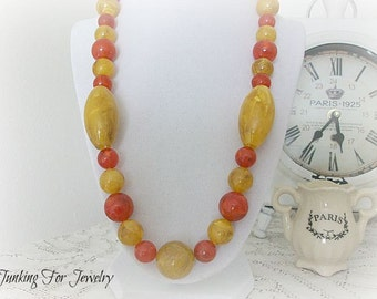 Vintage Lucite Beaded Necklace